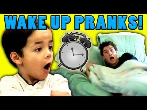 Kids React to Wake Up Pranks - Kids React to Wake Up Pranks