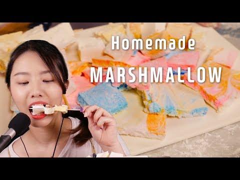 직접만든 마시멜로우 ASMR 먹방 리얼사운드[Eating Sounds ASMR]꿀꿀선아,suna Asmr,이팅사운드,marshmallow,マシュマロ