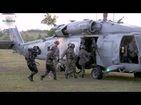 Philippine and U.S. Army Soldiers Conduct Fast Rope Training