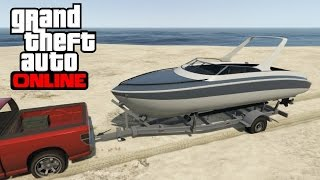 GTA 5 Online - How to Find and Launch a Boat Trailer (Next Gen)