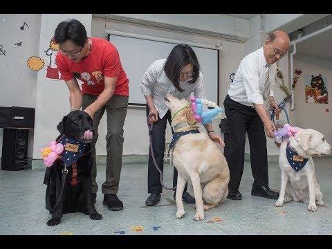 20180519 總統訪視台灣盲人重建院暨出席關懷退役導盲犬活動
