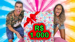 GANHAMOS UMA CAIXA MISTERIOSA DE R$ 1.000 REAIS! - KIDS FUN