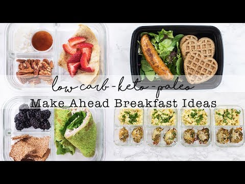 Low Carb Make Ahead Breakfast & Healthy Meals // Meal Prep Ideas