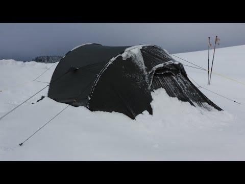 Wintercamping auf der weissen Wiese