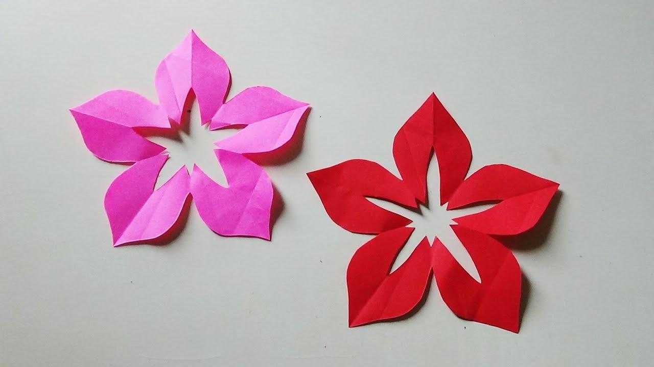 Cara Memotong Dan Membentuk Bunga Kertas Secara Sempurna Youtube