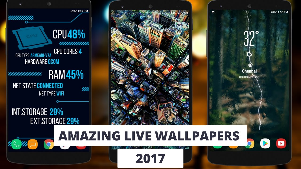 Best Live Wallpapers For Android 2017 - YouTube