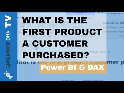What Is The First Product A Customer Purchased? - Power BI Analytics