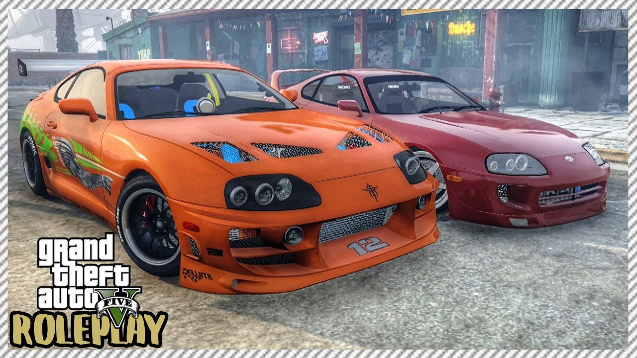 Toyota Supra From The Fast And The Furious Gta 5 Roleplay Fast Furious Toyota Supra Street Racing Ep 198 Civ