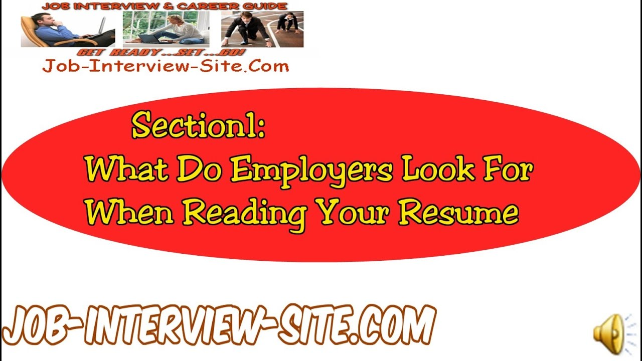 resume writing tips what do employers want to read on a resume