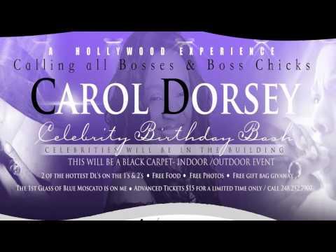 Carol Dorsey Celebrity B Day Party Sept 8th 2012 Detroit Mich w/ Power1099DOT com