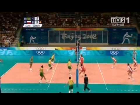 Poland Brazil Olympic Games 2008 set2