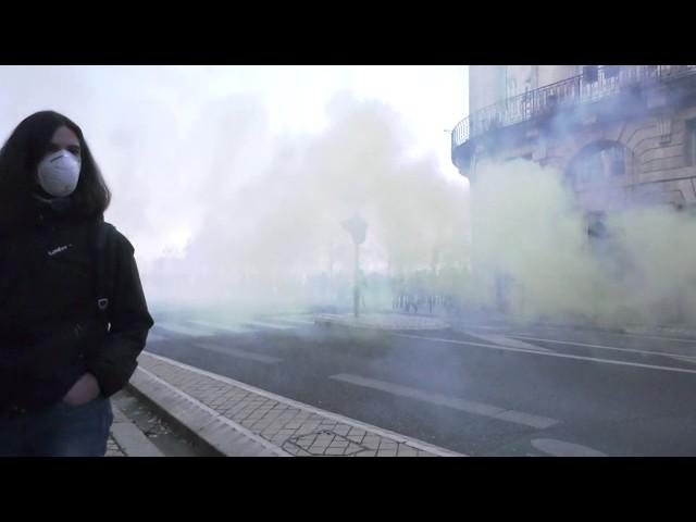 Quelques tensions ont éclaté pendant la manifestation à Bordeaux.