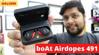 boAt Airdopes 491 - Wireless Earphones Earbuds With Long Battery - TWS Earbuds For Sports