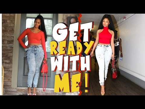 NICKI MINAJ HAIR AND MAKE UP INSPIRED LOOK | GET READY WITH ME  | CHINACANDYCOUTURE