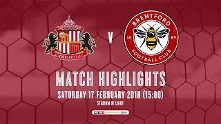 2017/18 HIGHLIGHTS:  Sunderland 0-2 Brentford