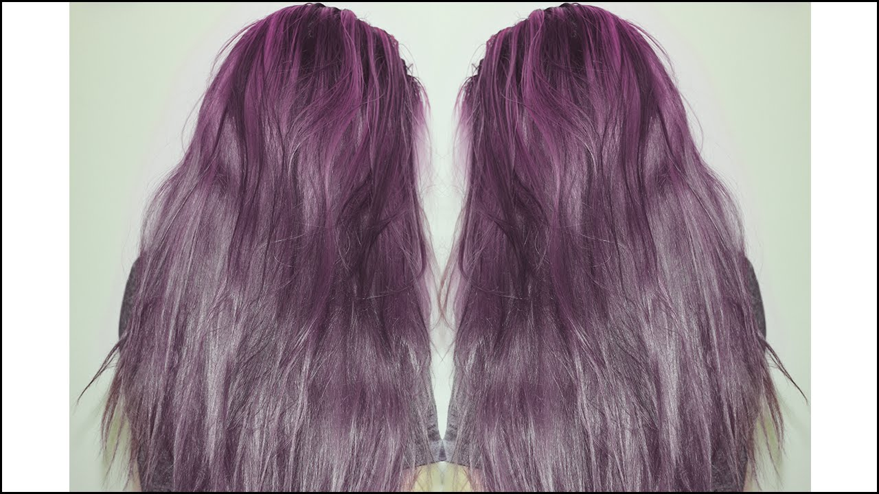 How To Dye Your Hair Lavender Purple Youtube