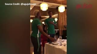 New Super Eagles Players, Agu, Alhassan, Osimhen, Onyekuru Dance During Initiation | Pulse TV