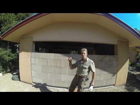 Building a wall with GeoSIP Hempcrete blocks