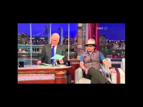 Johnny Depp on Letterman about Hunter S. Thompson 2011.10.27