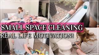 SMALL SPACE CLEAN DECLUTTER & ORGANIZE WITH ME 2021 / REAL LIFE CLEANING MOTIVATION /