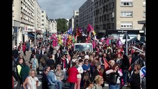 Manifestation à CAEN le 12 septembre 2017 contre les lois travail de Macron
