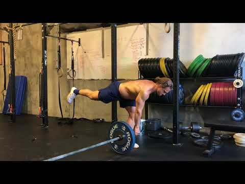 Landmine Single Leg Romanian Deadlift