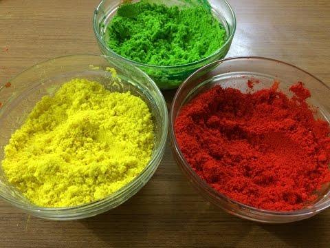 DIY powdered Holi colours ❤️💛💚