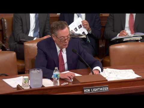 Rep. Lynn Jenkins Questions USTR Robert Lighthizer at Ways and Means Committee Hearing