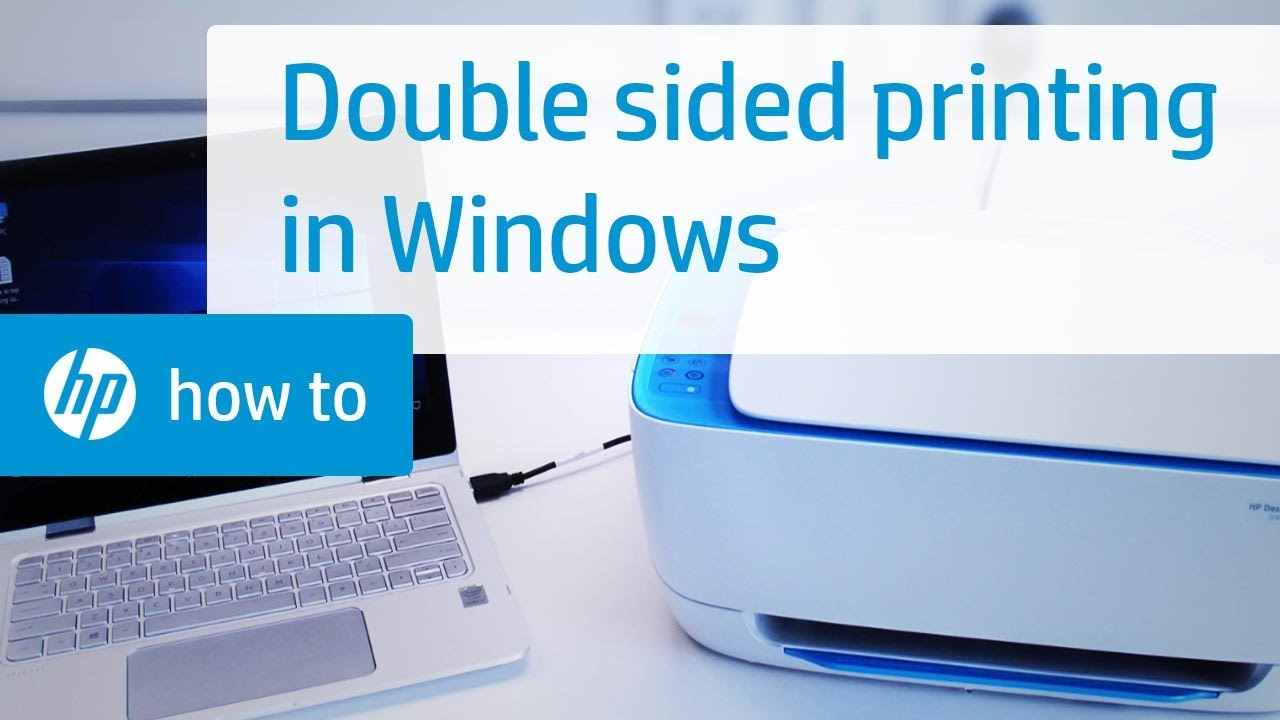 Hp Printers How To Print On Both Sides Of The Paper Windows Duplexing Hp Customer Support