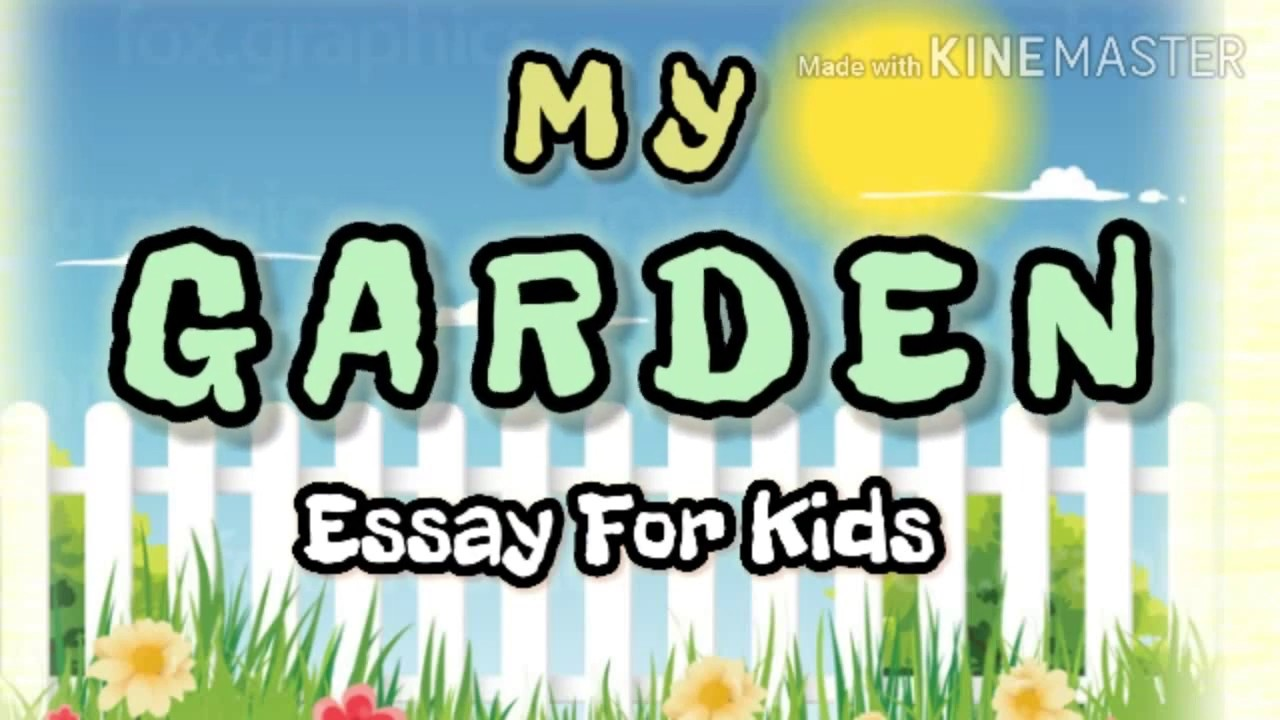 15 Lines Essay On My Garden In English Youtube