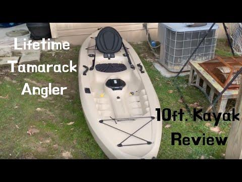 Lifetime Tamarack 100 10' Angler Kayak Review! WALMART Kayak! (BEST CHEAP KAYAK EVER!)