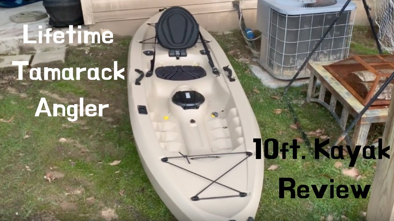 Lifetime Tamarack 100 10' Angler Kayak Review! WALMART Kayak! (BEST CHEAP  KAYAK EVER!)