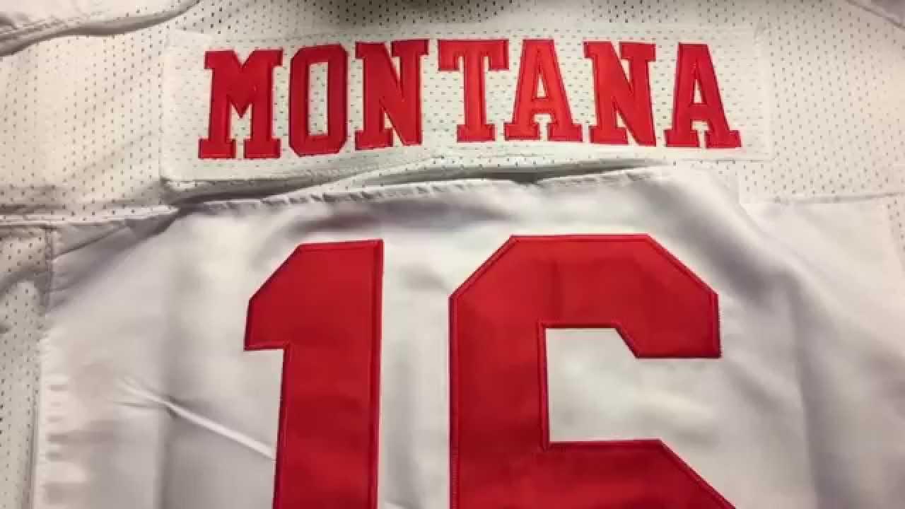 new concept f6f4e 9f8b0 San Francisco 49ers #16 Joe Montana Scarlet Elite Nike Jersey