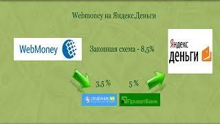 Webmoney на Яндекс.Деньги(Обменник.ws: http://goo.gl/gVFRq Статья: http://wp.me/p305S0-sW Ниже есть много нужных ссылок. Жмите