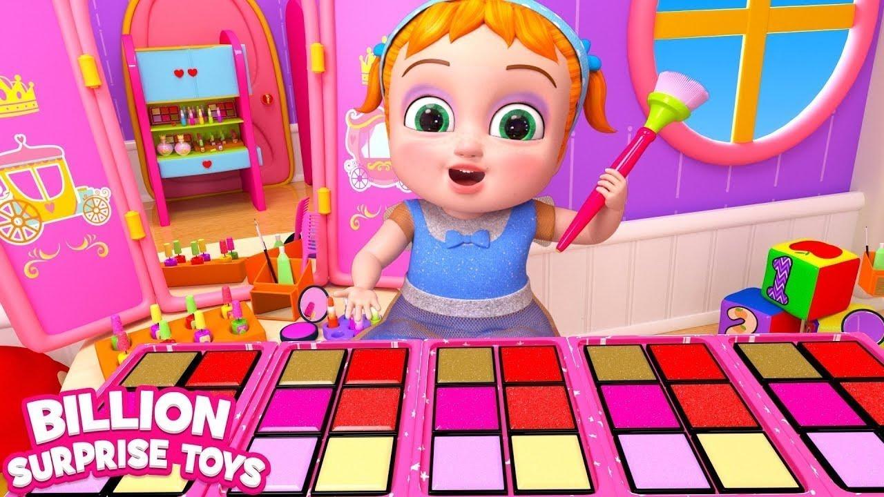 اغاني مكياج وكارتون للاطفال مليار لعبة مفاجأة | أغاني للأطفال والرضع