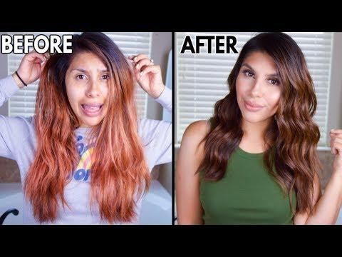 How to fix orange hair! (SHOCKING HAIR TRANSFORMATION!)