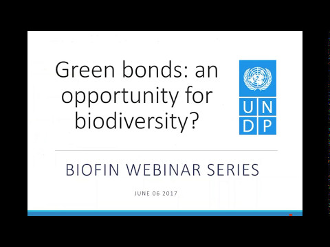 BIOFIN webinar - Green Bonds:  an Opportunity for Financing Biodiversity