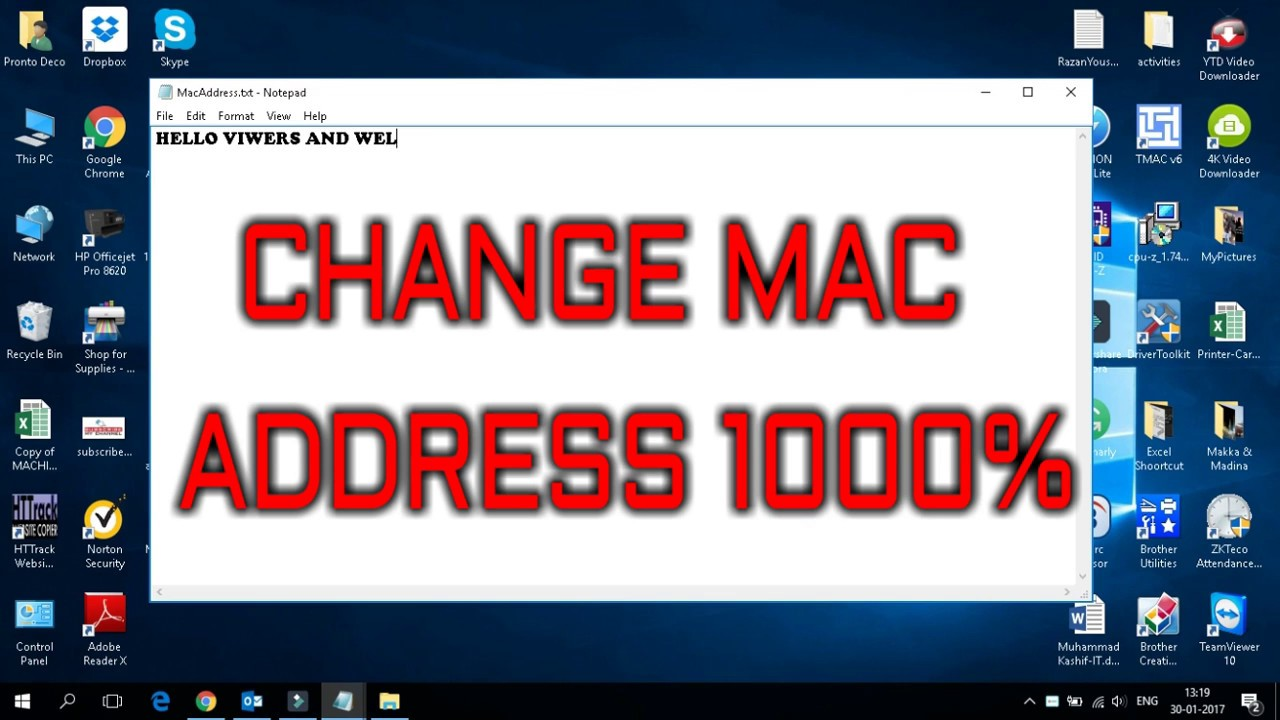windows 10 mac address changer