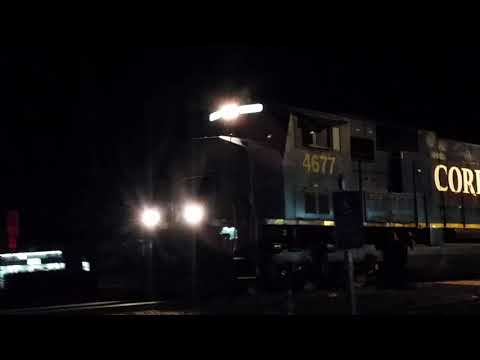 [ Former CSX ] CORP # 4677 leads Northbound Medford Hauler @ Front St./Oregon Ave.  Creswell, OR