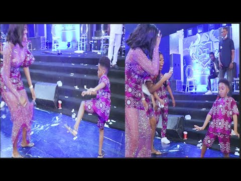 Download Mother & Son Dance! Tiwa Savage Son Steal The Show With His Incredible Dance Moves