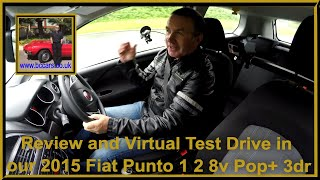 Review and Virtual Test Drive in our Fiat Punto 1 2 8v Pop+ 3dr