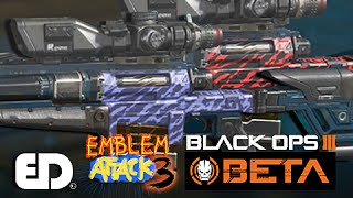 Black Ops 3: RED/BLUE TIGER (MW2) Camo Paint Job (Emblem Attack 3)