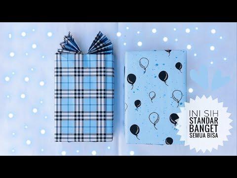 Cara membuat bungkus kado bentuk baju mudah dan sederhana | Simple gift wrapping.