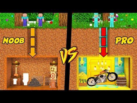 podziemna-baza-noob-vs-podziemna-baza-pro-w-minecraft!