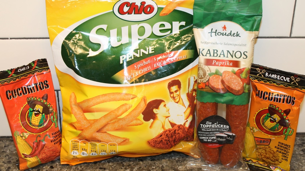 Rajce.ru 5 Cucuritos: Chili & Barbecue, Chio Super Penne s příchutí rajče & chilli,  Houdek Kabanos Paprika
