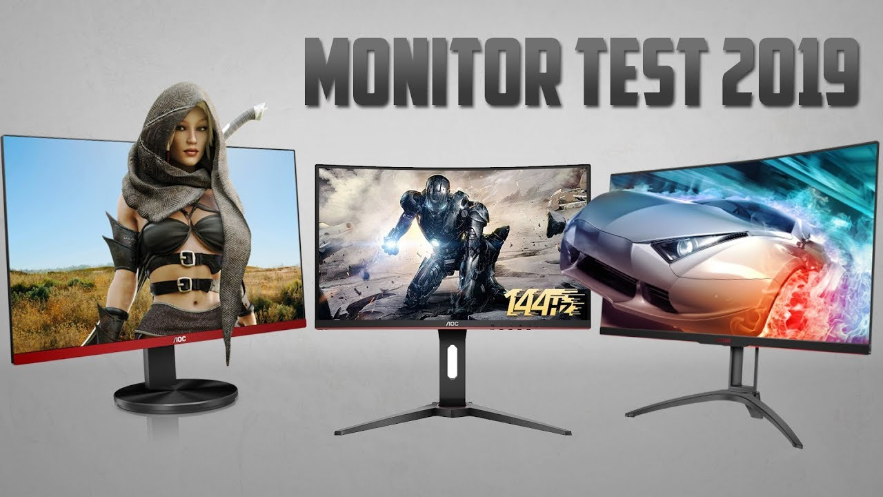AOC Gaming Monitor Test 100 Input Lag Messung I G100VXQ C100G10 AG10QC10 I  WQHD Full HD I Deutsch