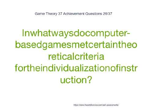 Game Theory 37 Achievement Questions
