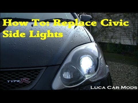 how to replace honda civic side lights with led 39 s ep3. Black Bedroom Furniture Sets. Home Design Ideas