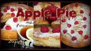 Цветаевский яблочный пирог в кремовой заливке.