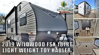 New 2019 FOREST RIVER WILDWOOD FSX 181RT Toy Hauler Lightweight Travel Trailer RV Camper Colorado